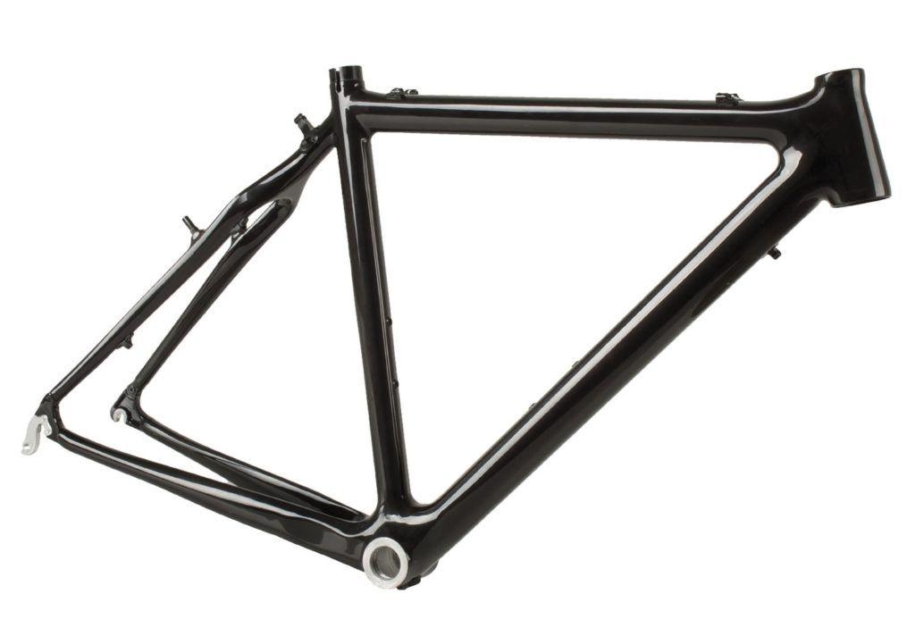 Seguro bicicleta - Imagen de una bicicleta de carbono con fondo blanco