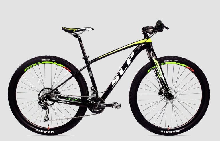 Seguro Bicicleta - Imagen de bicicleta marca SLP modelo CARBON LIMITED rodado 29 color negra y verde