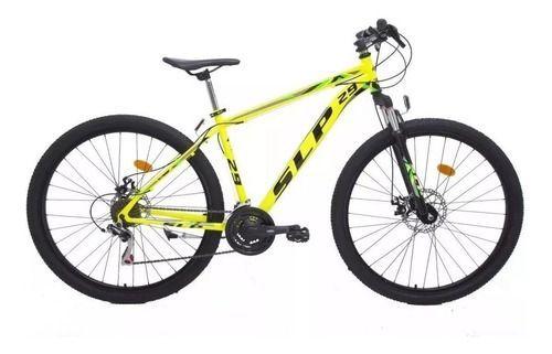 Seguro Bicicleta - Imagen de bicicleta marca SLP modelo 5 pro color amarilla